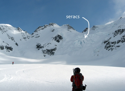 Seracs on the Benvolio Glacier, near Whistler BC (photo: Lars G)